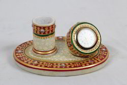 Marble Toothpick Stand with Watch