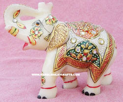 Decorative Gold Painted Elephant