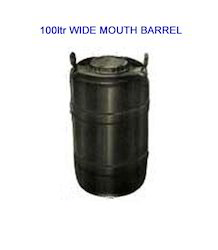 100 Liter Wide Mouth Plastic Barrels
