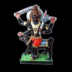 Marble Kal Bhairav Statue