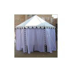 Pavilion Tent with Voile Drapes