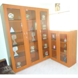 Glass Door Wooden Almirah