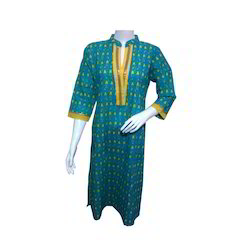Yellow Check Kurti