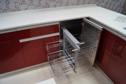 Kitchen cabinet racks stainless steel images for Stainless steel modular kitchen designs