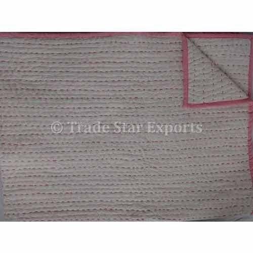Handstiched Kantha Baby Quilt
