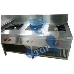 stainless steel gas burner range for hotel