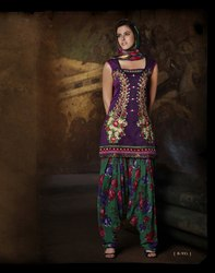 Readymade Punjabi Suit Purple Color
