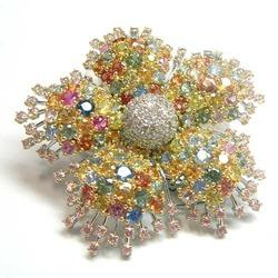 Diamond And Multi Broach And Pendent
