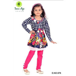 Kids Printed Party Wear Dress Set
