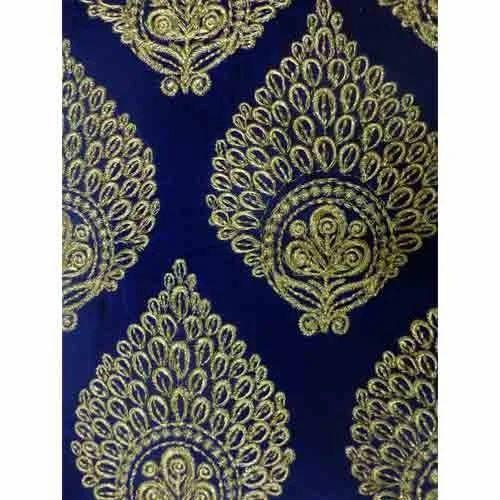 Dyed Velvet Fabrics Dyed Velvet Embroidered Fabric Manufacturer