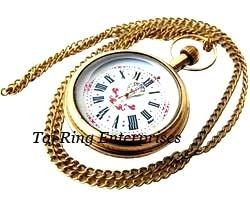 Brass Nautical Pocket Watch