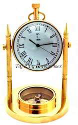 Brass Moon Stand Clock