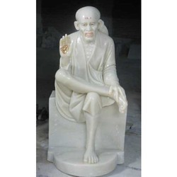 Sai Baba Seated in Singhasan from Marble