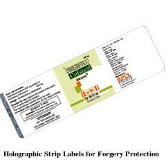 Holographic Strip Labels for Forgery Protection