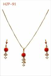 Artificial Red Pendant Set