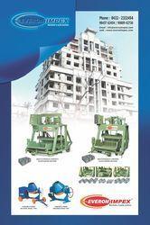 Hydraulic Operated Block Making Machine And Concrete Mixer