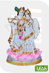 Vaah Resin Radha Krishna Idol on Lotus