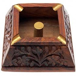 Square Wooden Ashtray