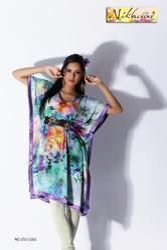 Designer Printed Kurti Tunic in Kaftan Style