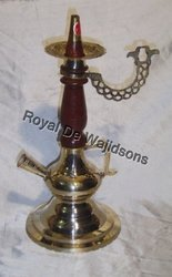 brass hookah with pipe