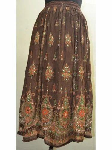 Mehandi Green Colour Skirt