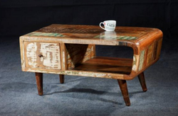 Reclaimed Timber Wood Retro Coffee Table