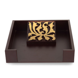 Gold Flower Napkin Tray