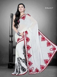 Embroidered New Design Sarees