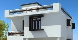 Front elevation 3d front elevation designing service for Exterior home design in chennai