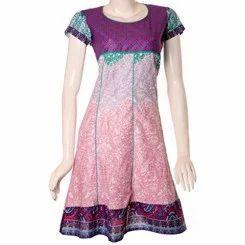 Jaipuri+Printed+Cotton+Slimfit+Anarkali+Kurti