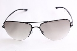 Black Half Rim Sunglasses