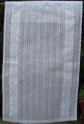White Curtain In Applique