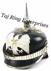 Eagle Badge Leather Helmet