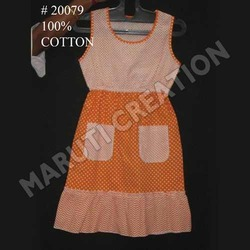 Cotton Sleeveless Frock