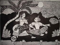 Phad Painting (black x white )