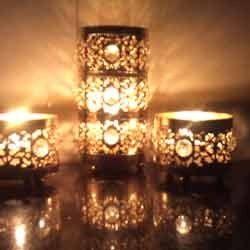 Crystal Tee Light Holders