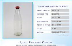 650 Gm Sauce Glass Bottle