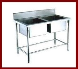 Stainless+Steel+Two+Sink+Unit