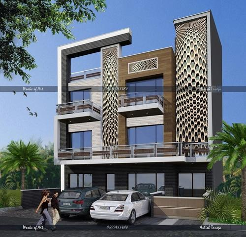 Apartment Exterior Design: Small apartment uses clothes partitions ...