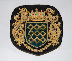 Diamond/Shield/Crown/Wreath-Crest-Embroidered Badge