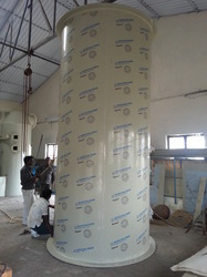 Vertical Acid Storage Tank
