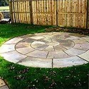 Gray Flagstone Circles