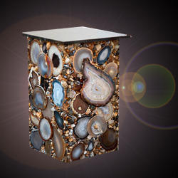 Side Tables of Agate Stone