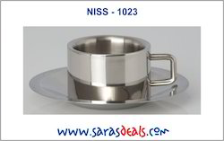 Stainless Steel Cup And Saucer
