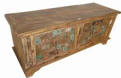 Wooden Carved Blanket Box