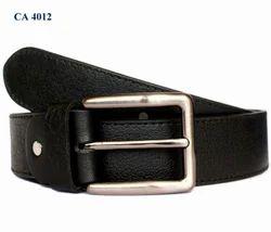 Men Plain Leather Belts