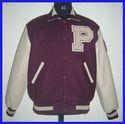 Maroon Parchment Varsity Jacket