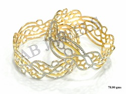 Gold Machine Bangles 22 Kt