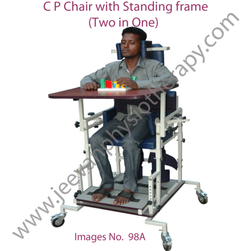 C P Wheel Chair with Standing Frame