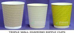 Triple Wall Diamond Ripple Cup
